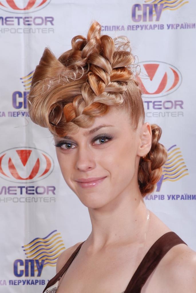 Робота переможця конкурсу  Фетісової Аліни в номінації «Сучасна зачіска на довгому волоссі.