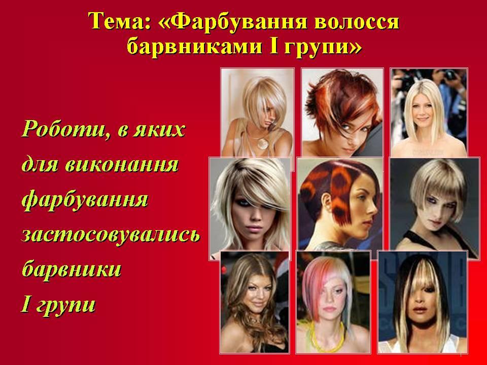 теми «Фарбування волосся