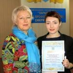 Бірбасова Дарія з майстром ВН Мироненко Ніною Анатоліївною