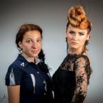 Гнеушева Анна з моделлю Свистуновою Тетяною