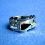 Робота Воловика Сергія  -перстень з емаллю